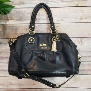 🌿Coach Madison Sabrina Black Convertible Satchel
